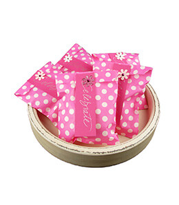 Treat Bags Dots Pink 5x7in (Pack of 100)