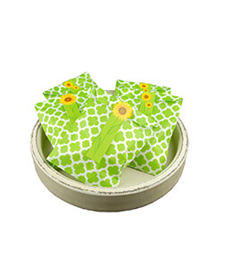 Treat Bags Quatrefoil Green 5x7in (Pack of 100)