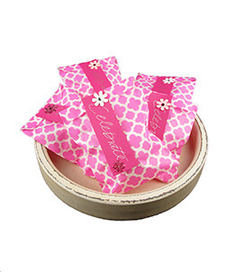 Treat Bags Quatrefoil Pink 5x7in (Pack of 100)