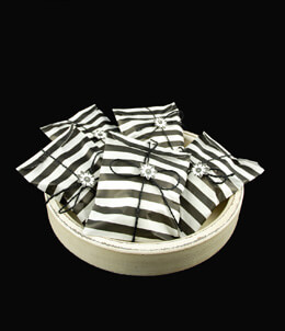 Treat Bags Stripe Black 5x7in (Pack of 100)