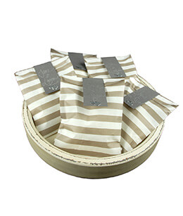 Treat Bags Stripe Gray 5x7in (Pack of 100)