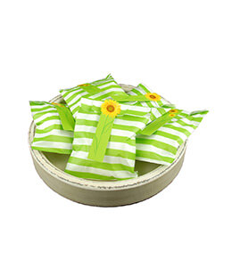 Treat Bags Stripe Green 5x7in (Pack of 100)