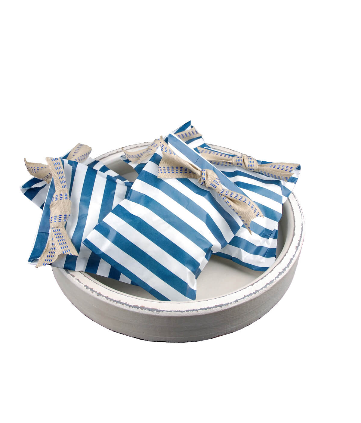 Treat Bags Stripe Navy Blue 5x7in (Pack of 100)