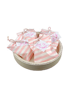 Treat Bags Stripe Pink 5x7in (Pack of 100)