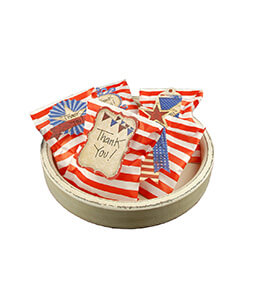 Treat Bags Stripe Red 5x7in (Pack of 100)