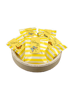 Treat Bags Stripe Yellow 5x7in (Pack of 100)