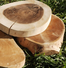 "Tree Slices Reclaimed Wood 6-8"" wide"