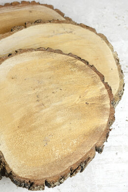 "Tree Slice Wood Slab Round 15-18"" with Bark"