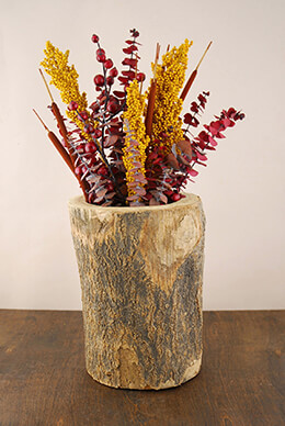 Tree Trunk Vase 10.5in