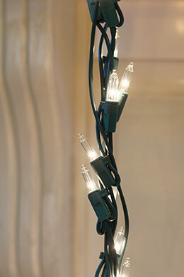 Garland Trim Lights 150 Lights, 10.75ft, Green Wire, Outdoor, Clear