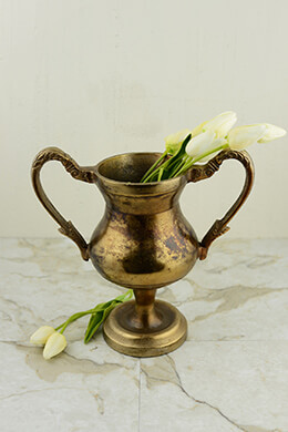 Trophy Vase Gold 10x10.5in