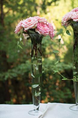 Trumpet Glass Vase 23.5in Davinci Vase