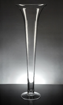 Tall Glass 23 Inch Trumpet Vases