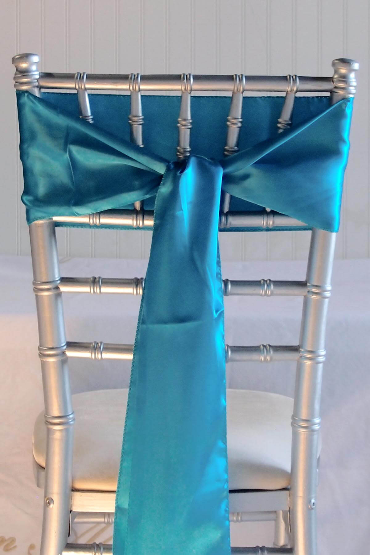 10 Turquoise Teal Blue Satin Chair Sashes  6x106
