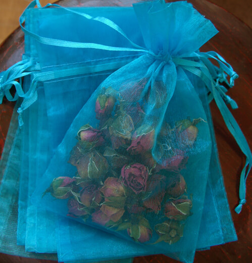Organza Favor Bags Turquoise | Pack of 10