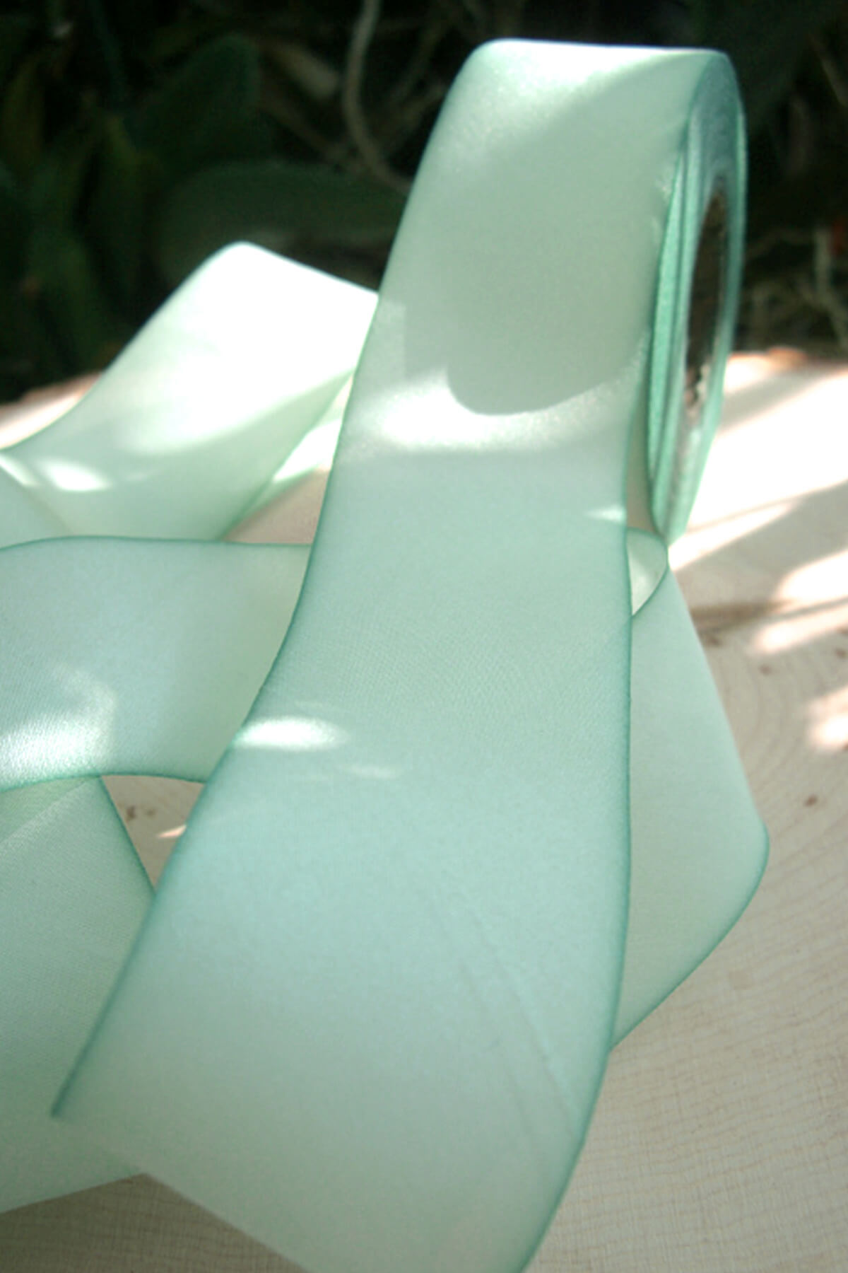 Custom Dyed 100% Silk Ribbon Turquoise 1.5in x38 yds, Earth Silk