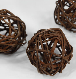 "Twig Balls 2"" Brown (12 balls /pkg)"