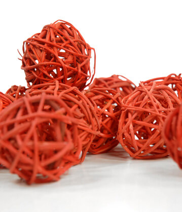Twig Balls Orange 2in (Pack of 12)