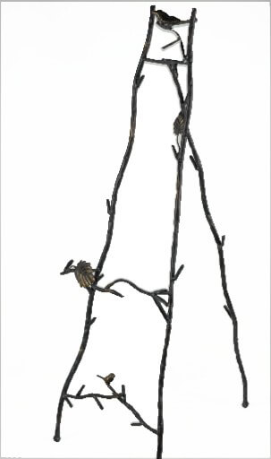 Bird and Branch Metal Easel 35in