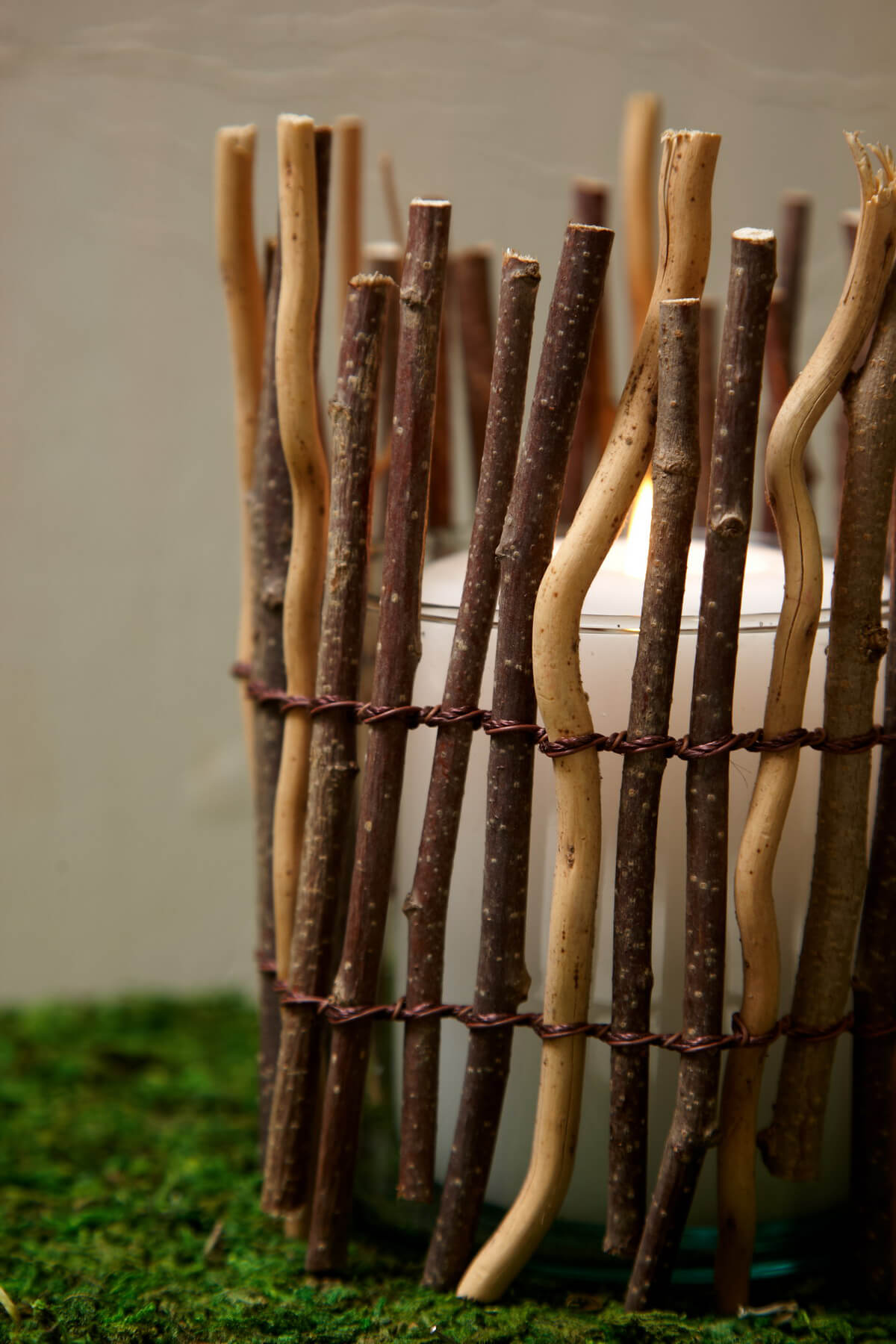 """Twig Votive Candle or Vase Covering 3.75"""" x 6.25"""
