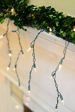 Twinkling Icicle Lights Green Wire 150ct, 15 Feet, Green Cord, Outdoor