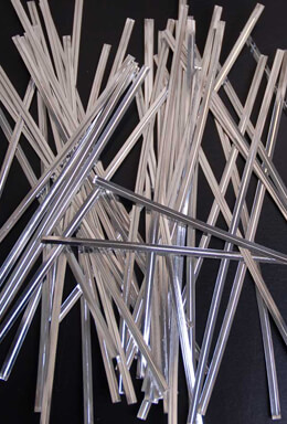 Silver Twist Ties -50 pack