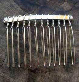 "Twisted Wire Metal 2"" Hair Combs"