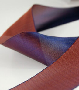 "Two Color Ribbon Blue & Rust Orange 1-1/2"" width 25 yards"
