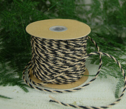 Black & Natural Two-Tone Jute Twine 2.5 mm x 50 yards