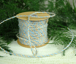 Slate Blue & Natural Two-Tone Jute Twine 2.5 mm x 50 yards