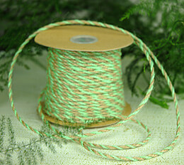 Mint Green& Natural Two-Tone Jute Twine 2.5 mm x 50 yards