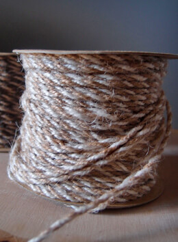 Ivory & Natural Two-Tone Jute Twine 2.5 mm x 50 yards