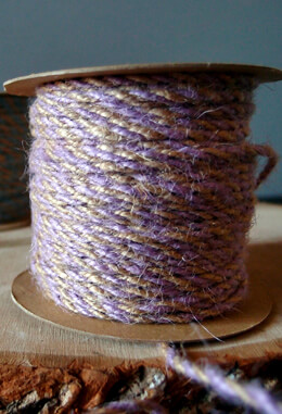 Lavender & Natural Two-Tone Jute Twine 2.5 mm x 50 yards