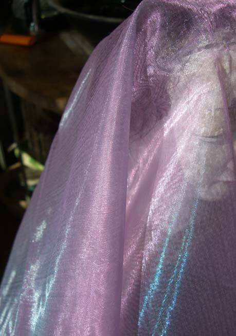 Organza Fabric Lavender & Blue 9ft