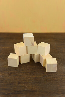 Wood Blocks Unfinished 1.5in (Pack of 9)