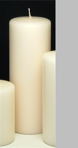 "Unity Candle Ivory 3x8 Unscented 8"" Pillar"