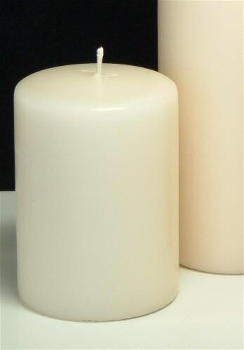 Pillar Candles Ivory 4x3  (2 pcs)  Ivory