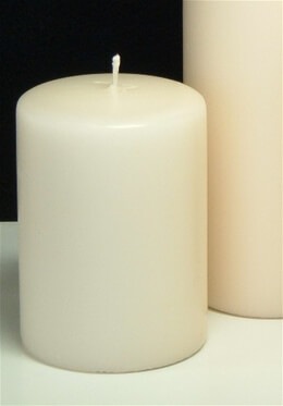 Pillar Candles Ivory 4x3  (2 pcs)  Ivory