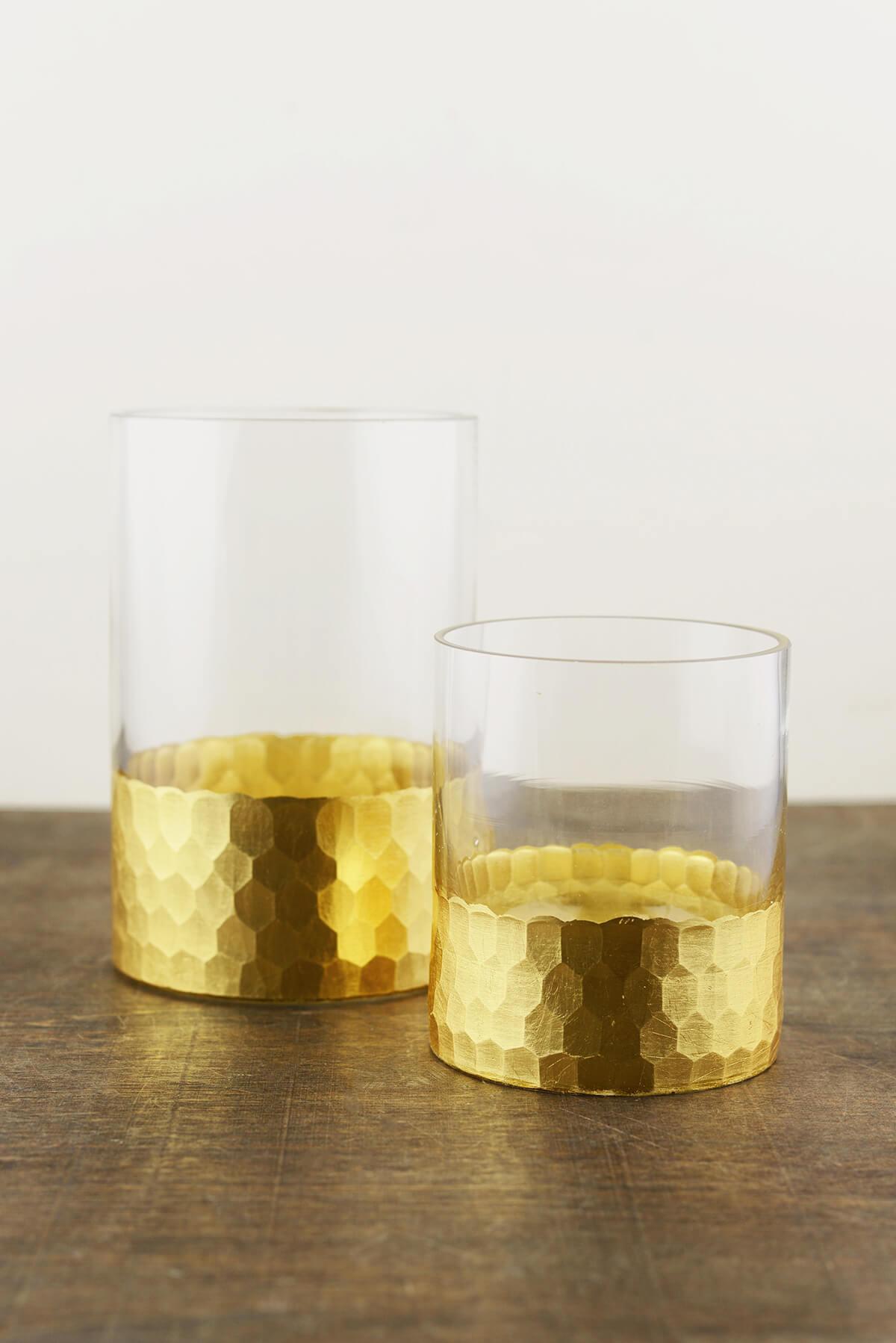 """Elsa Vase &  Candle Holder 4"""" Gold Highlights"""