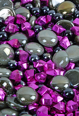 Vase Gems Gray &  Magenta Crystal Assortment 4lbs