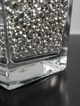 Vase Fillers  Metallic Silver Raindrops  16 oz. / 2 cups
