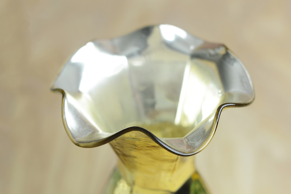 Gold Mercury Glass Carraway Vase 11""