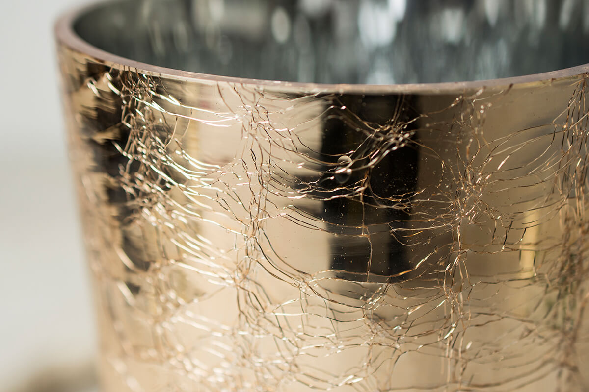 Champagne Gold Vase 8in