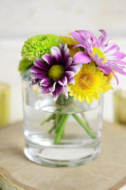 "Heavy 3"" Glass Cylinder Vase & Candleholder"