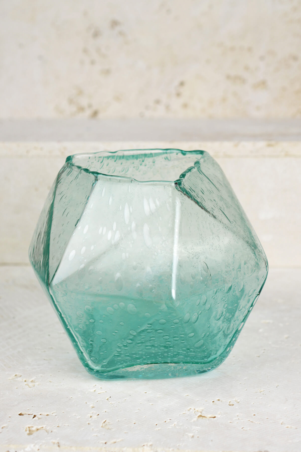 Geo Glass Bud Vase 6.5""
