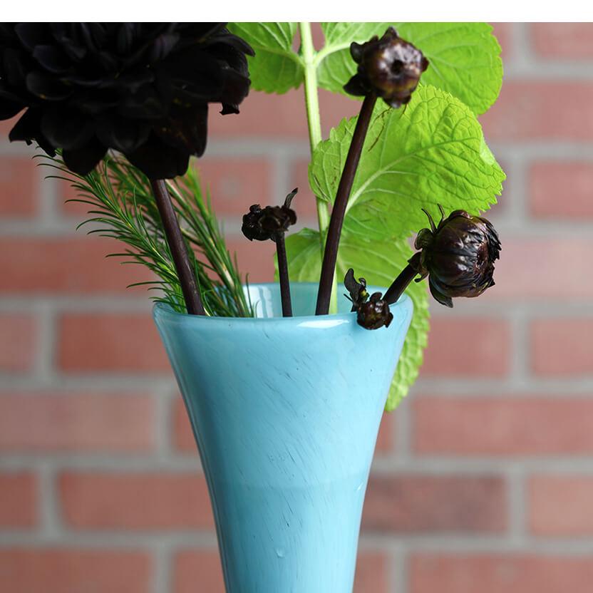 "Maui Vase Blue Hand Blown 20"""