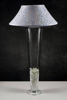 Vase Lamp Shade Silver Microdot