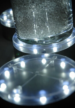 "3- 4"" LED Vase Light Bases by Acolyte"