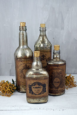 Vintage Decorative Bottles (Set of 4)
