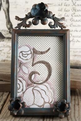 Vintage Frame Floral 4x6